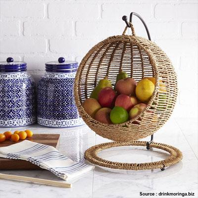 Fruit Basket In The Dining Area Eco Friendly Decor