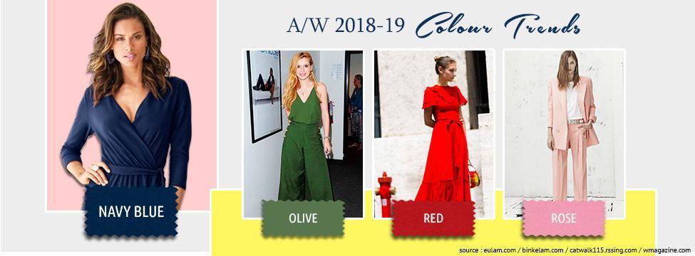 Autumn Winter Colour Trends 2018-2019