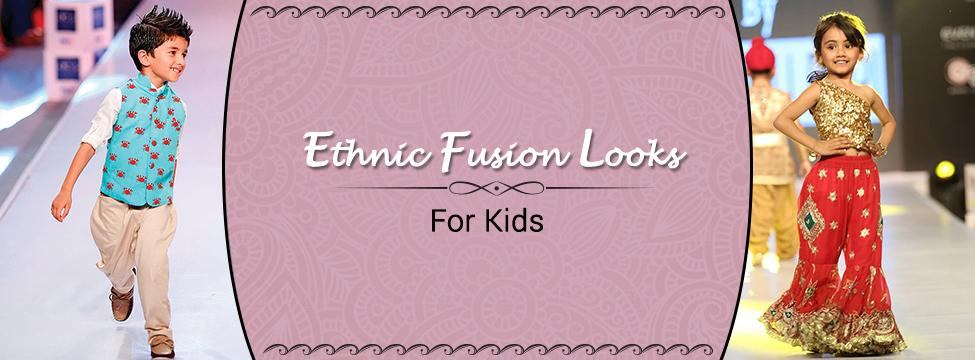 Kids Ethnic Wear With A Fusion Fix