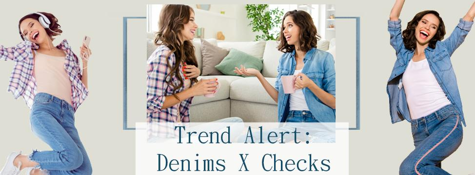 In Focus: How to Style Denims and Checks for Women