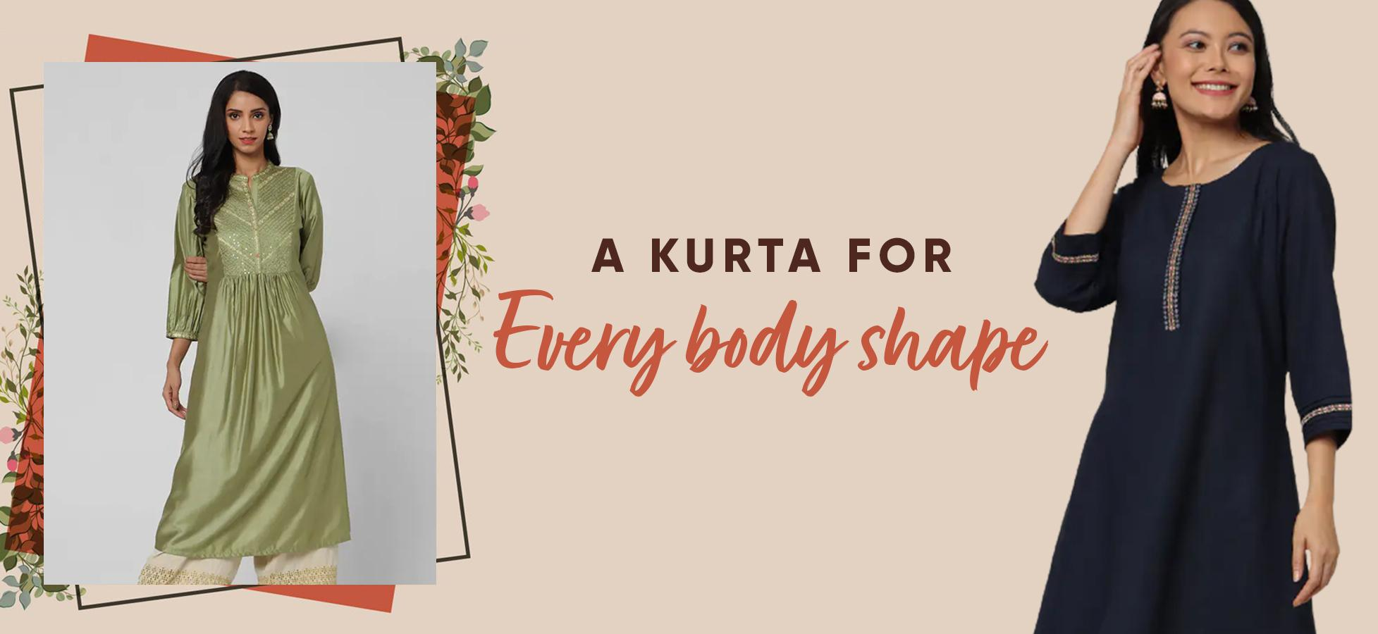 Types of Kurtas That'll Suit Your Body Shape